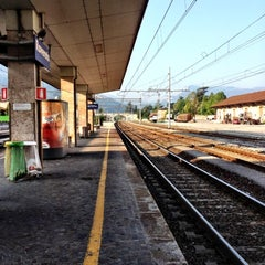 Photo taken at Stazione di Rovereto by Alessandro T. on 7/4/2012