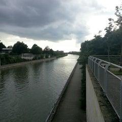 Photo taken at Mittellandkanal by Michael P. on 7/8/2012