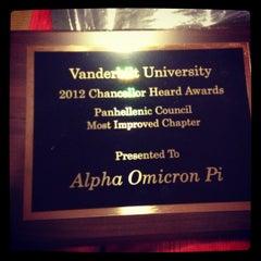 Photo taken at Alpha Omicron Pi-Nu Omicron Chapter at Vanderbilt by Martha on 4/11/2012
