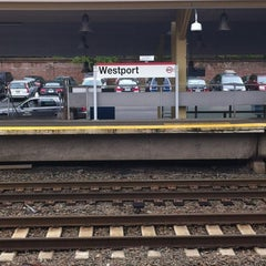 Photo taken at Metro North - Westport Train Station by Jim R. on 5/3/2012