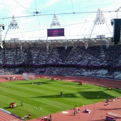 Photo taken at Olympic Stadium by Mark S. on 9/6/2012