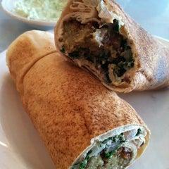 Photo taken at La Saj Lebanese Bistro by Lindsey B. on 5/7/2012