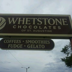 Photo taken at Whetstone Chocolates of St. Augustine by Joshua S. on 8/21/2012
