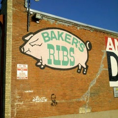 Photo taken at Baker's Ribs by Jaime R. on 2/10/2012