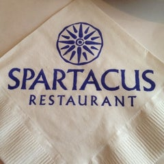 Photo taken at Spartacus Restaurant & Catering by Sharon H. on 4/28/2012