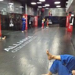 Photo taken at Alliance Gym & Fight Club by Konstantin C. on 7/19/2012