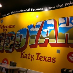 Photo taken at MOOYAH Burgers, Fries & Shakes by Paula C. on 5/18/2012