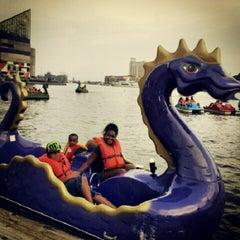 Photo taken at Inner Harbor Paddle Boat Dock by Atl B. on 7/8/2012