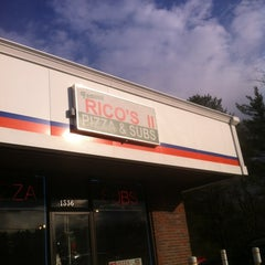 Photo taken at Rico's Pizza and Sub Shop by Will W. on 4/10/2012