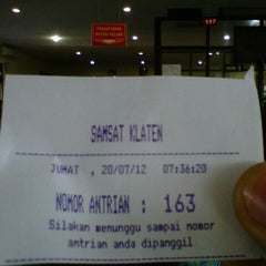 Photo taken at Samsat Klaten by Albertus Magnvs A. on 7/20/2012