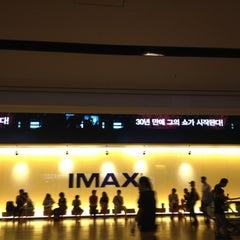 Photo taken at CGV 용산 by Anna Y. on 8/26/2012
