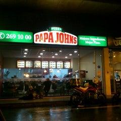 Photo taken at Papa John's Pizza by Ingrid M. on 6/18/2012