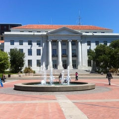 Photo taken at Sproul Plaza by Rikard R. on 6/8/2012