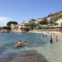 Photo taken at Spiaggia Seccheto by Davide R. on 8/7/2012