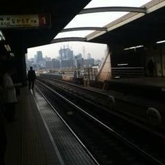 Photo taken at 西中島南方駅 (Nishinakajima-Minamigata Sta.) (M14) by Noriyuki T. on 2/20/2012