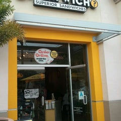 Photo taken at Which Wich? Superior Sandwiches by Sungmi S. on 4/29/2012