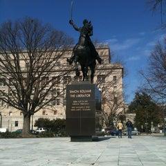 Photo taken at Simon Bolivar, the Liberator Statue by Christina F. on 2/18/2012