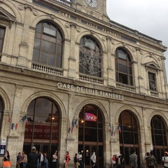 Photo taken at Station Gare Lille-Flandres ⓇⓉ by Dalia S. on 7/7/2012