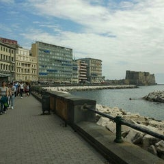 Photo taken at Lungomare di Napoli by Fabrizio B. on 4/30/2012
