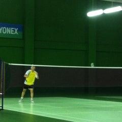 Photo taken at BJGCR Badminton Court by Kim Seng C. on 3/11/2012