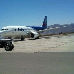 Photo taken at Aeropuerto La Florida (LSC - SCSE) by Alejandro B. on 2/16/2012
