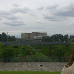 Photo taken at Thames Barrier Park by Luke O. on 6/10/2012