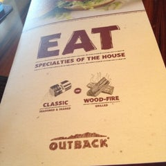 Photo taken at Outback Steakhouse by Faith J. on 9/2/2012
