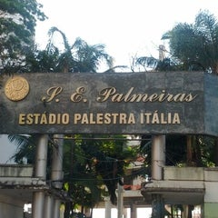 Photo taken at Sociedade Esportiva Palmeiras by Bruno A. on 7/10/2012