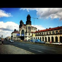 Photo taken at Praha hlavní nádraží | Prague Main Railway Station by Peter G. on 9/8/2012