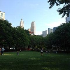 Photo taken at Washington Market Park by Sabina K. on 8/24/2012
