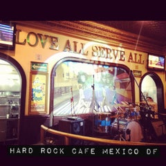 Photo taken at Hard Rock Cafe Mexico City by Andres B. on 4/20/2012