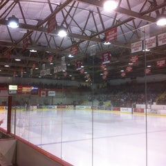 Photo taken at Lynah Rink by John S. on 3/9/2012