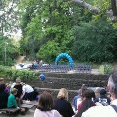 Photo taken at Bidwell Bowl Amphitheatre by Vicki S. on 5/26/2012