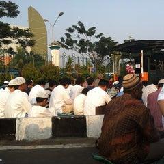 Photo taken at Masjid Raya Al-Musyawarah by Danu R. on 8/19/2012