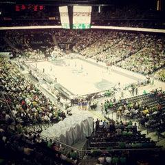 Photo taken at Žalgirio Arena   Zalgiris Arena by Mantas L. on 6/17/2012