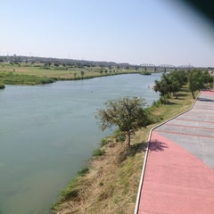 Photo taken at USA Border To Mexico by Hu Go O. on 8/3/2012