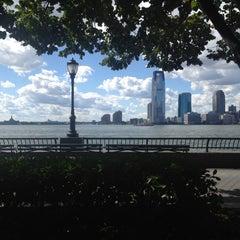 Photo taken at Hudson River Promenade by Van R. on 9/9/2012