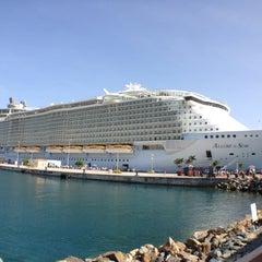 Photo taken at Port Of St. Thomas by Ligia G. on 9/5/2012