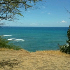 Photo taken at Amelia Earhart marker at Diamond Head Lookout by Thomas P. on 8/22/2012