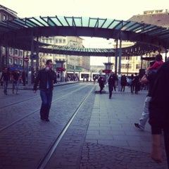 Photo taken at Place de l'Homme de Fer by tom b. on 4/13/2012