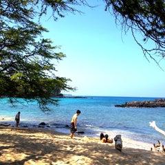 Photo taken at Waialea Beach (Beach 69) by Kristen F. on 3/17/2012