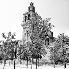 Photo taken at Monestir de Sant Cugat by Oliver on 7/8/2012