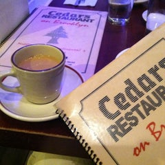 Photo taken at Cedars Restaurant by Lyn Y. on 3/26/2012