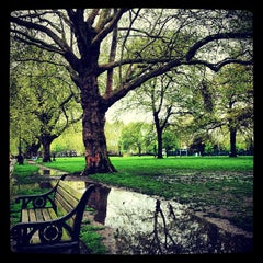 Photo taken at London Fields by Adriaan P. on 5/10/2012