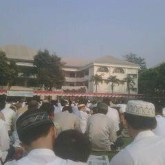 Photo taken at Al-Izhar Pondok Labu by ilham r. on 8/19/2012