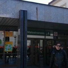 Photo taken at Metro =A= Malostranská by Андрей Р. on 4/25/2012