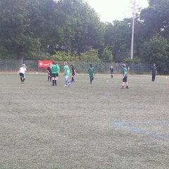 Photo taken at Takkostadion, Telgte by Michaela S. on 6/2/2012