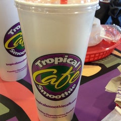 Photo taken at Tropical Smoothie Café by Gina I. on 3/4/2012