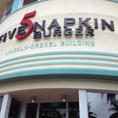 Photo taken at 5 Napkin Grill by Rahif J. on 3/15/2012