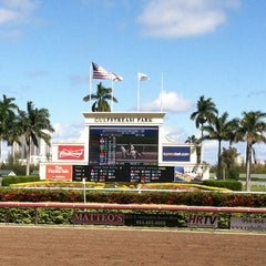 Photo taken at Gulfstream Park Racing and Casino by Jason R. on 3/14/2012